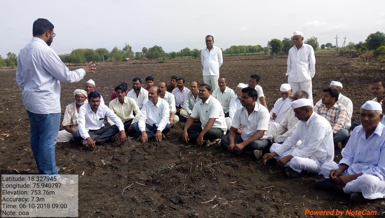 Discussion with farmers in Osmanabad